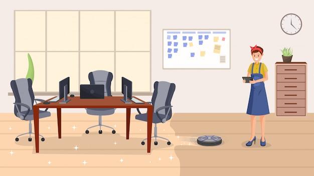Serviço de limpeza de escritórios