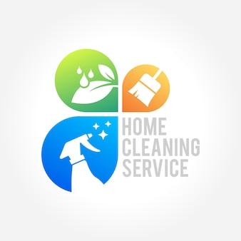 Serviço de limpeza doméstica design de negócios