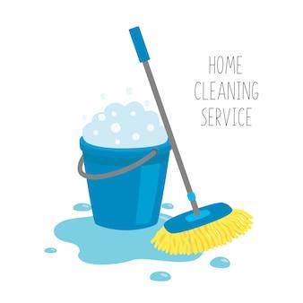Serviço de limpeza doméstica.