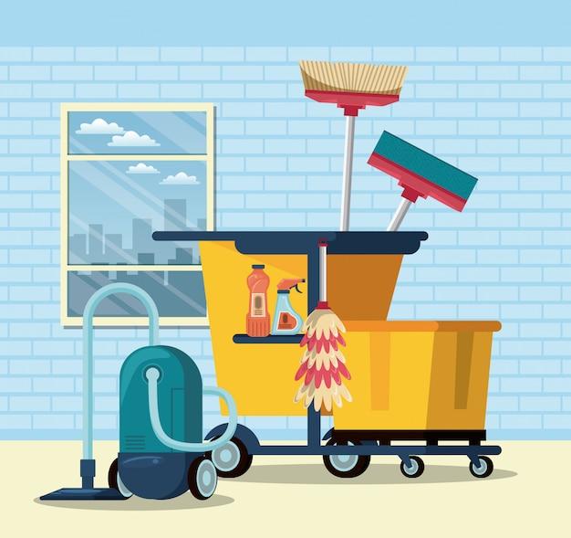 Serviço de limpeza e arrumação