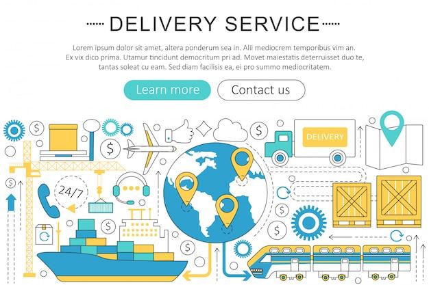 Serviço de logística de transporte de carga de entrega