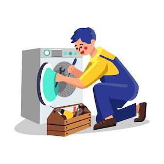 Serviço de máquina de lavar, conserto de encanador