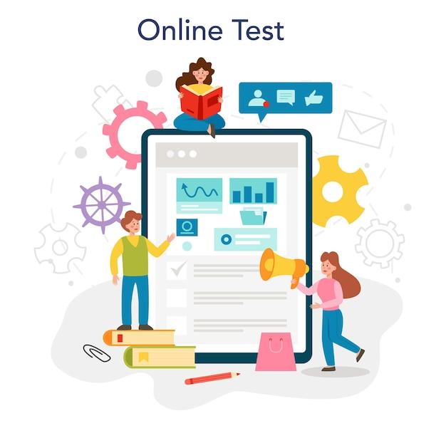 Serviço de marketing online ou promoção educacional de plataforma de negócios