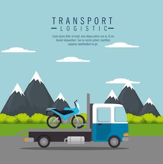 Serviço de motocicleta de transporte de caminhão