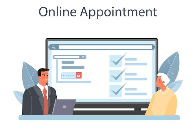 Serviço de notário online ou assinatura de advogado de plataforma e legalização