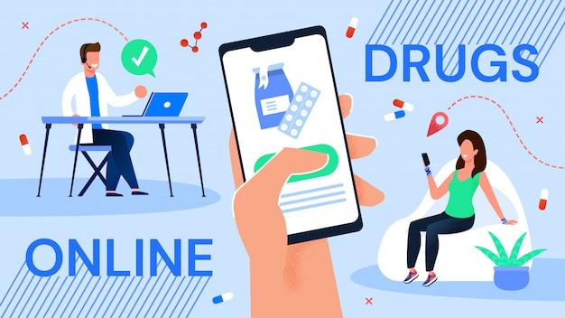 Serviço de pedido de medicamentos on-line via aplicativo móvel
