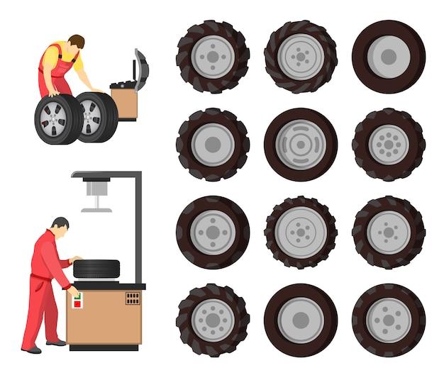 Serviço de pneus