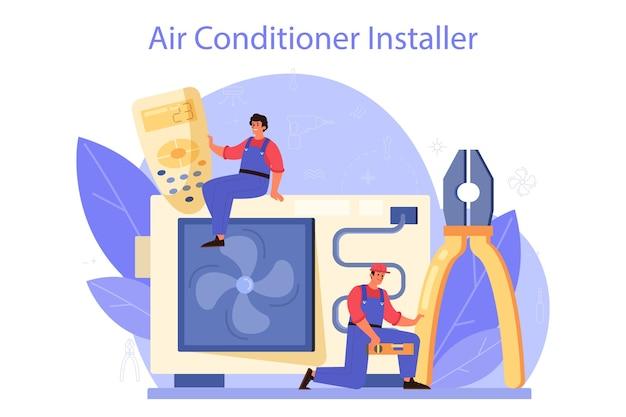 Serviço de reparação e instalação de ar condicionado.