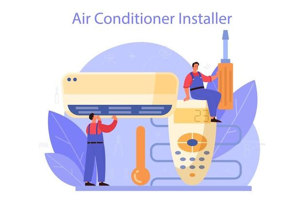 Serviço de reparo e instalação de ar condicionado