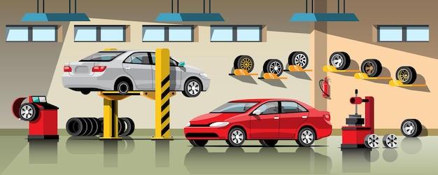 Serviço de reparo e manutenção de automóveis