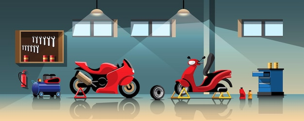 Serviço de reparo e manutenção de motocicletas