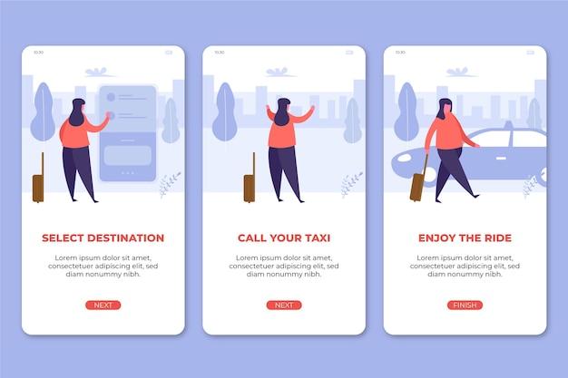 Serviço de táxi aplicativo celular