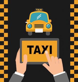 Serviço de táxi de aplicativo