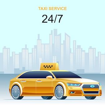 Serviço de táxi diurno e noturno