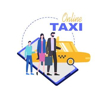 Serviço de telemóvel online taxi