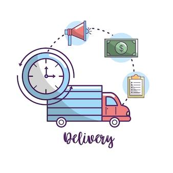 Serviço de transporte de entrega para encomendas