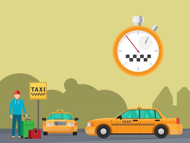 Serviço de transporte de táxi da cidade