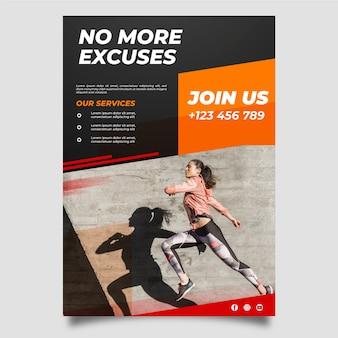 Serviço de treinamento em estilo de cartaz esportivo