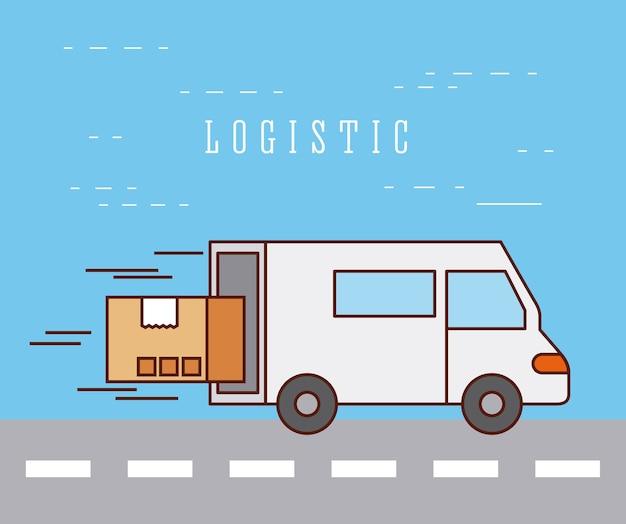 Serviço de velocidade de transporte de entrega logística