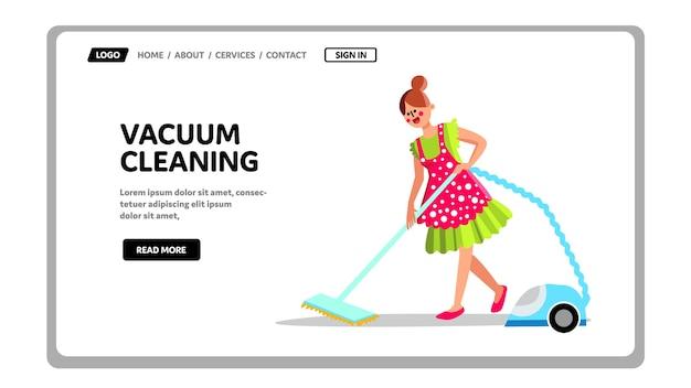 Serviço doméstico de equipamento de limpeza a vácuo