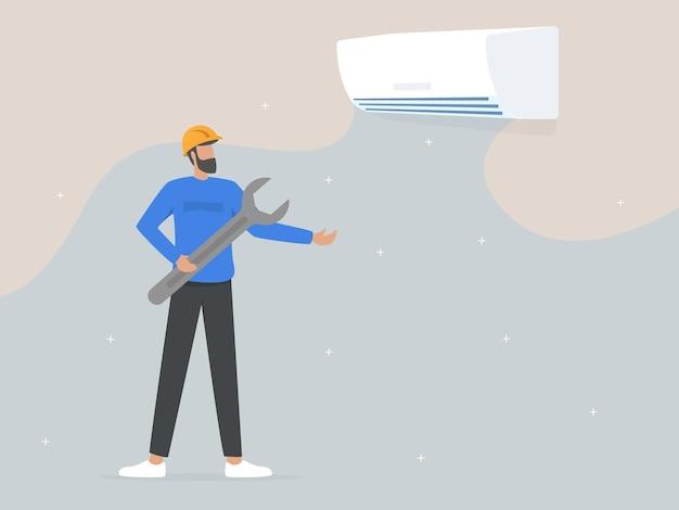 Serviço e reparo de aparelhos de ar condicionado