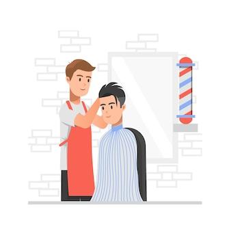 Serviço em barbearia