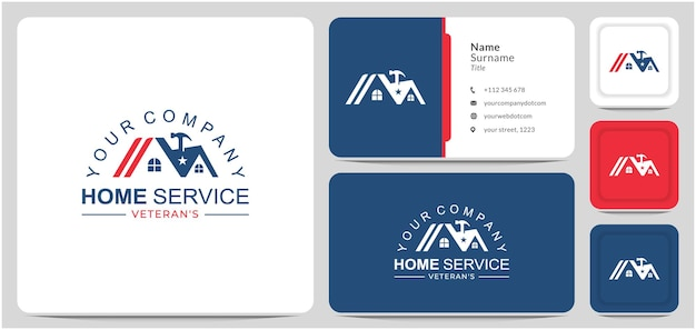 Serviço em casa design de logotipo reparo chave de martelo para empresas é um veterano em reforma de casas