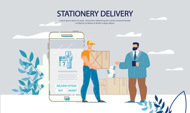 Serviço fixo de compras e entrega on-line