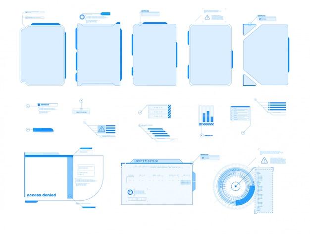 Serviço futurista de automóvel, digitalização e análise automática de dados. faixa de carro inteligente. carro inteligente isométrico futurista e ícones com benefícios de máquina. ilustração