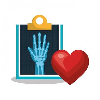 Serviço médico de raio x saúde isolado