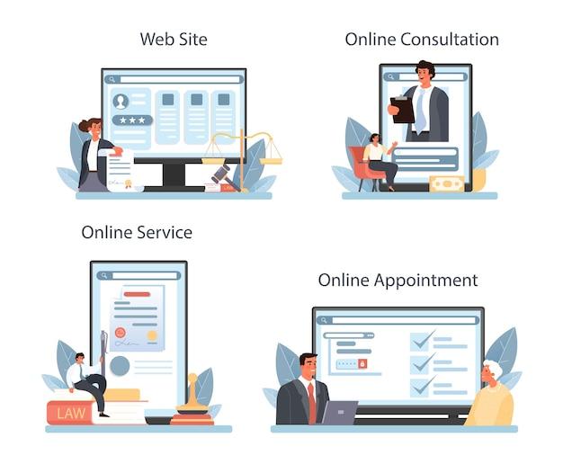 Serviço on-line de serviço notarial ou conjunto de plataforma