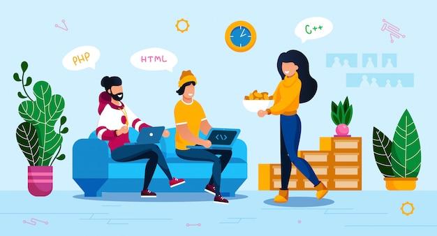 Serviço online, conceito de planejamento de inicialização