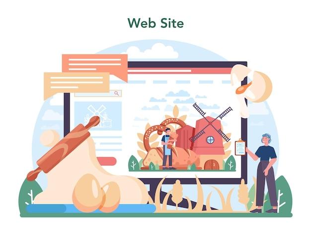 Serviço online da indústria de panificação ou processo de panificação de pastelaria de plataforma
