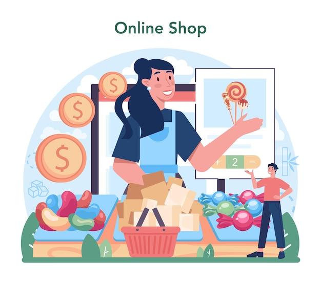 Serviço online da indústria de produção de açúcar ou plataforma de sacarose