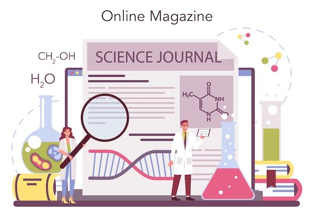 Serviço online de ciência química ou conjunto de plataformas