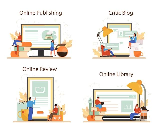 Serviço online de crítico profissional ou conjunto de plataforma