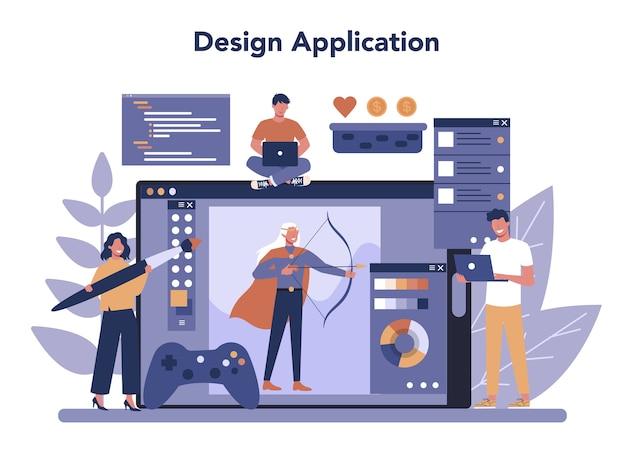 Serviço online de desenvolvimento de jogos ou conjunto de plataformas