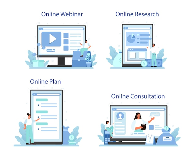 Serviço online de diversificação de negócios ou conjunto de plataformas