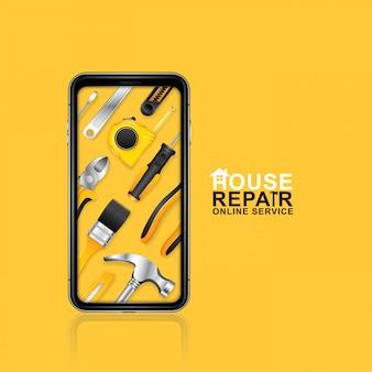 Serviço online de ferramentas de construção