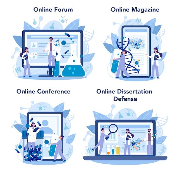 Serviço online de geneticista ou conjunto de plataforma