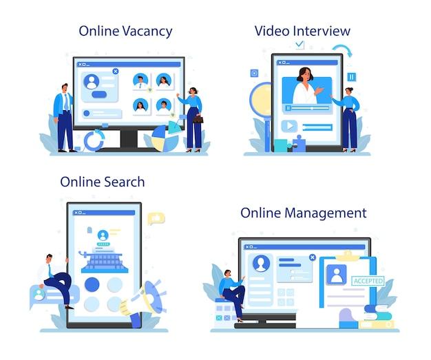 Serviço online de gestão de pessoal ou conjunto de plataforma