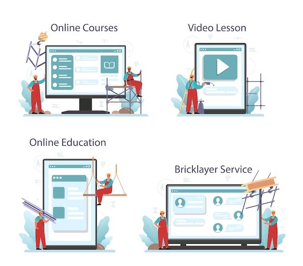 Serviço online de instalador ou instalador ou conjunto de plataforma.