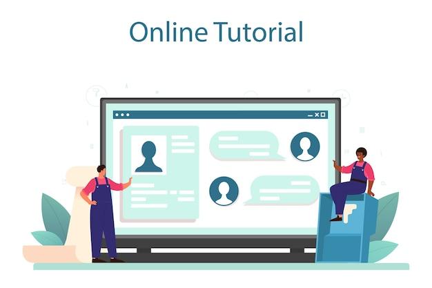 Serviço online de papel de parede ou ilustração de plataforma