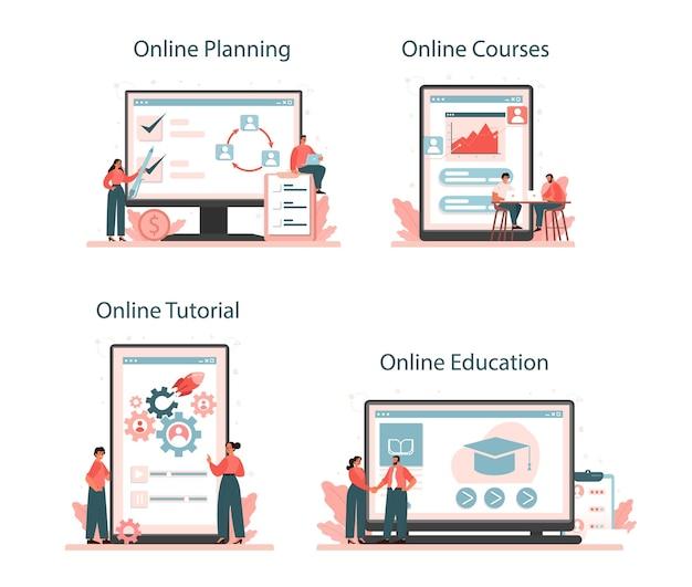 Serviço online de planejamento de pessoal ou conjunto de plataforma