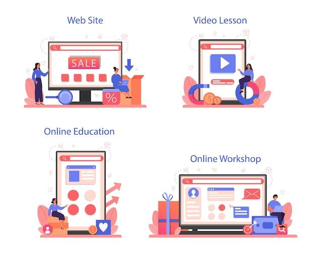 Serviço online de publicidade contextual ou conjunto de plataforma
