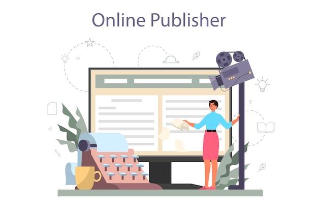 Serviço online de roteirista ou conjunto de plataforma