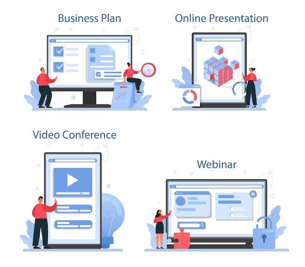 Serviço online de solução ou conjunto de plataforma