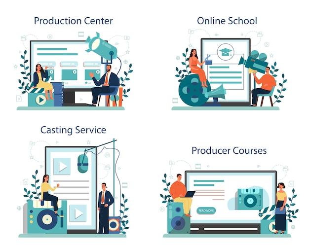 Serviço online do produtor ou conjunto de plataforma