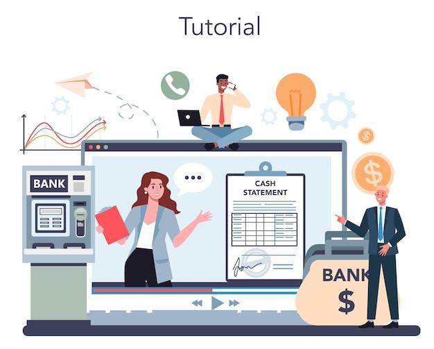 Serviço online encashment ou ilustração de plataforma