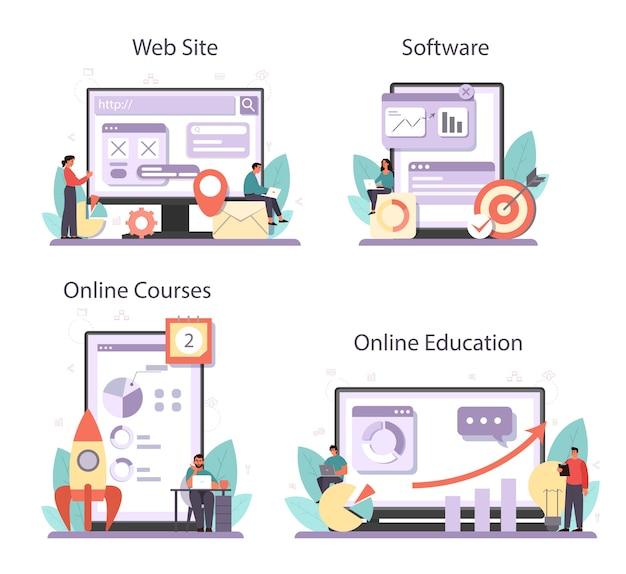 Serviço online otimizador de seo ou conjunto de plataforma